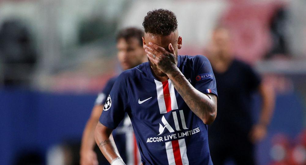 Neymar, futbolista brasileño del PSG, tras su derrota en la final de la Champions League frente al Bayern, el 23 de agosto de 2020