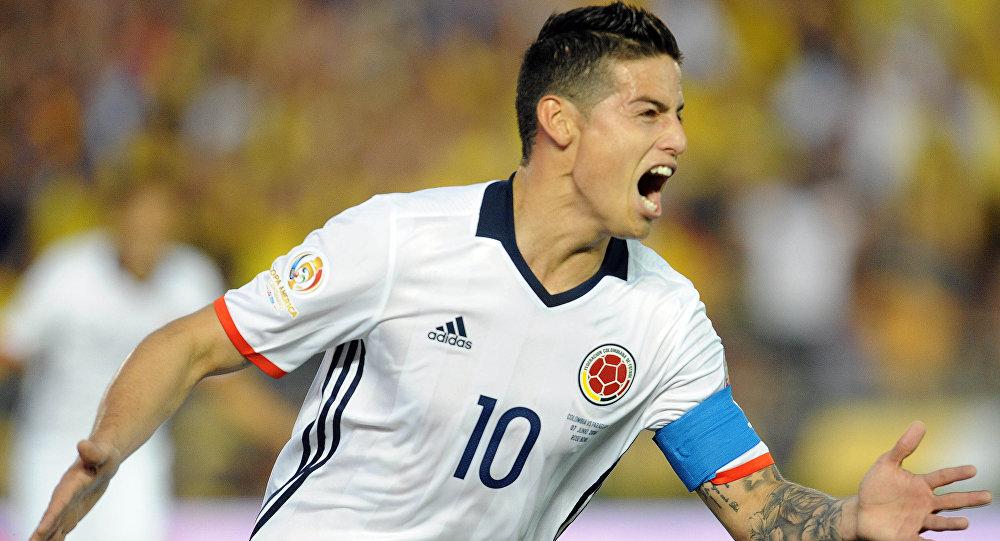 James Rodriguez durante la Copa America Centenario 2016.