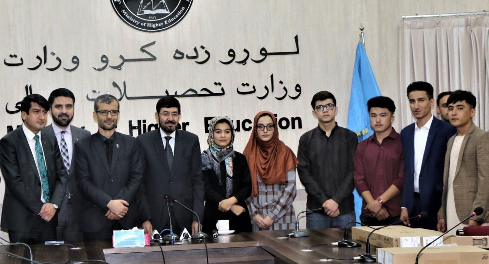 ارج گذاری از نخبگان امتحان کانکور 1399 توسط رهبری وزارت تحصیلات عالی افغانستان