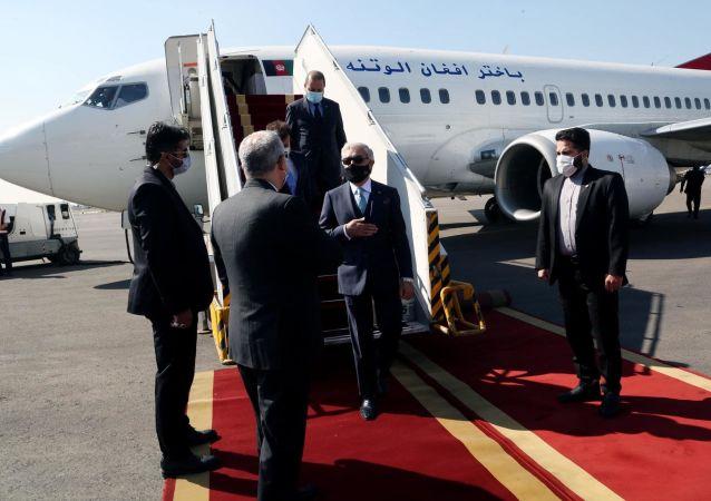 مواصلت هیئت عالیرتبهی افغانستان به رهبری عبدالله عبدالله به تهران
