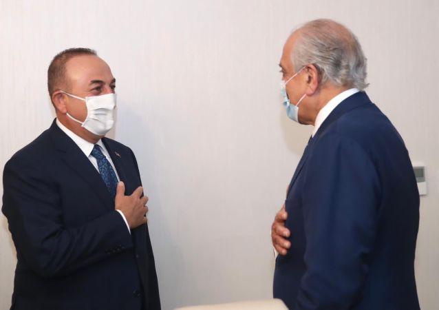 خلیلزاد با وزیر خارجه ترکیه در آنکارا دیدار کرد