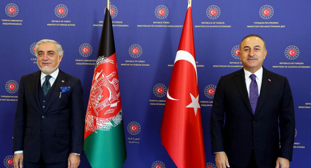 دیدار عبدالله عبدالله با مولود چاووش اوغلو، وزیر خارجه ترکیه
