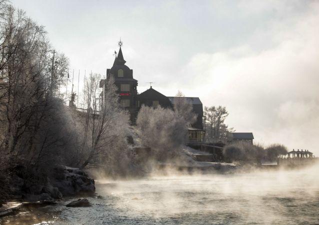 نقش و نگار زمستانی بر دریاچه بایکال/ ایرکوتسک