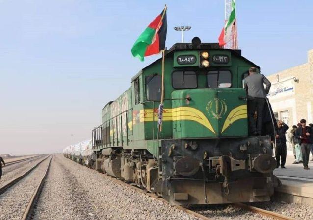نخستین محموله مواد صادراتی ایران توسط قطار وارد افغانستان شد