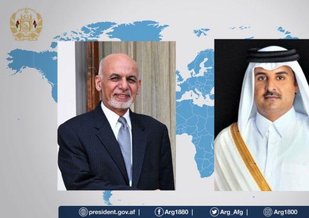 آتش بس فوری محور گفتگوی تلفنی غنی و امیر قطر