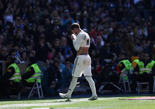 سيرجيو راموس لاعب ريال مدريد الإسباني