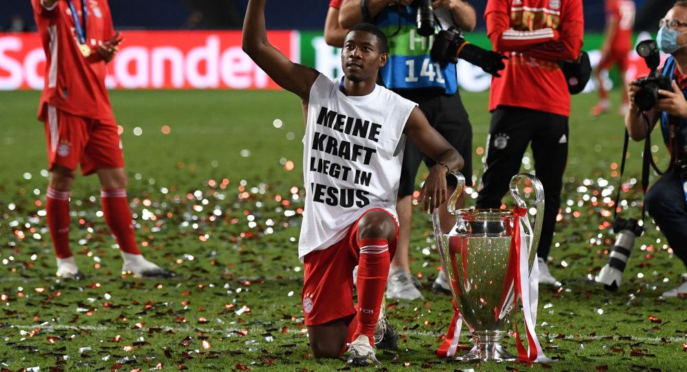 Freude der Münchner über den 1:0-Sieg über Paris Saint-Germain. Lissabon, 23. August 2020