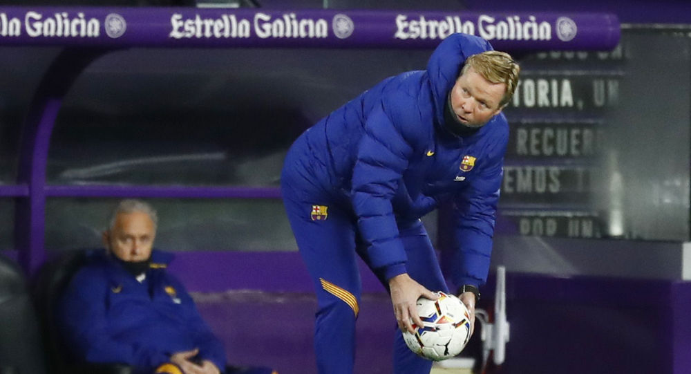 Soccer Football - La Liga Santander - Real Valladolid v FC Barcelona - Estadio Jose Zorrilla, Valladolid, Spain - December 22, 2020 Barcelona coach Ronald Koeman