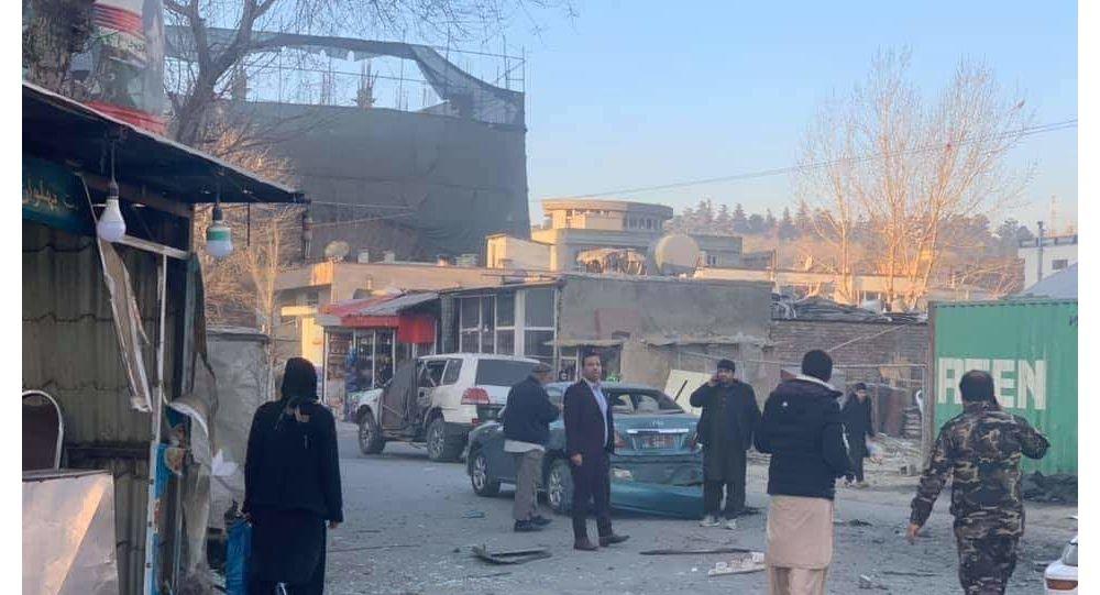 انفجار بر موتر سفارت ایتالیا در کابل