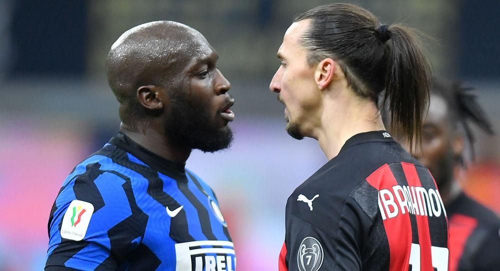 El futbolista Romelu Lukaku y el futbolista Zlatan Ibrahimovic