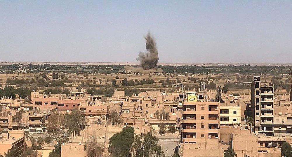 حمله راکتی بر پایگاه نظامی امریکا در سوریه
