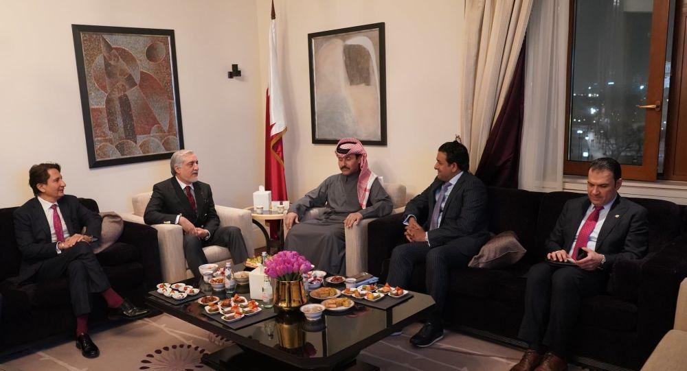 دیدار عبدالله عبدالله با نماینده ویژۀ وزارت خارجه قطر در مسکو
