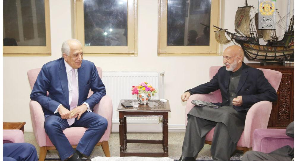 خلیلزاد با کرزی در کابل دیدار کرد