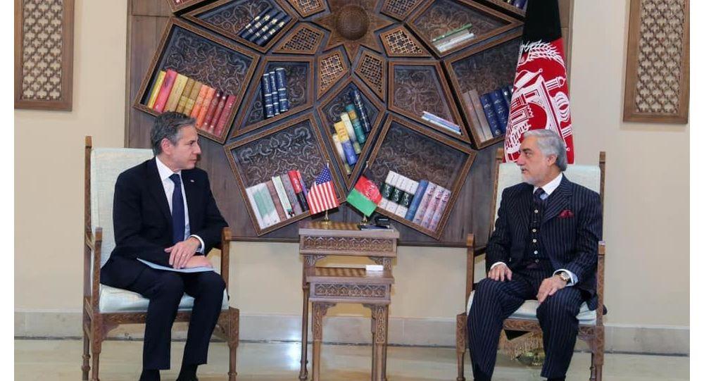 دیدار عبدالله عبدالله با وزیر خارجه امریکا