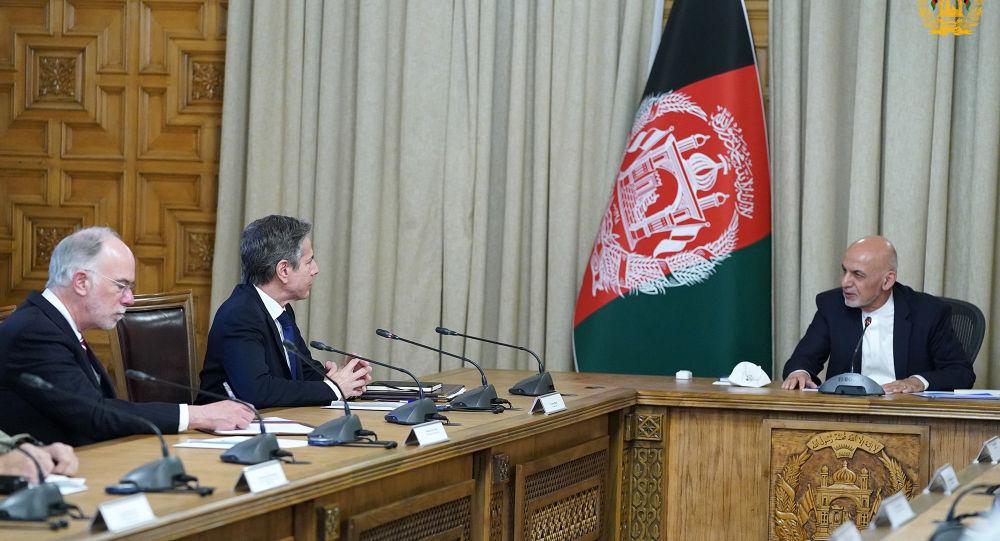 غنی در دیدار با بلینکن: نیروهایما به تنهایی قابلیت دفاع از افغانستان را دارند