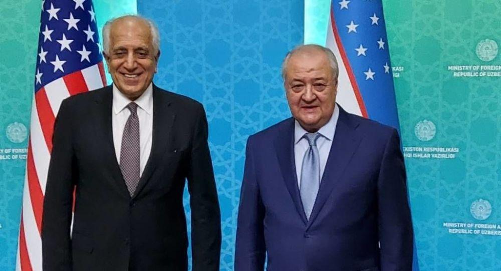 روند گفت و گوهای صلح افغانستان محور دیدار وزیر خارجه ازبیکستان با زلمی خلیلزاد