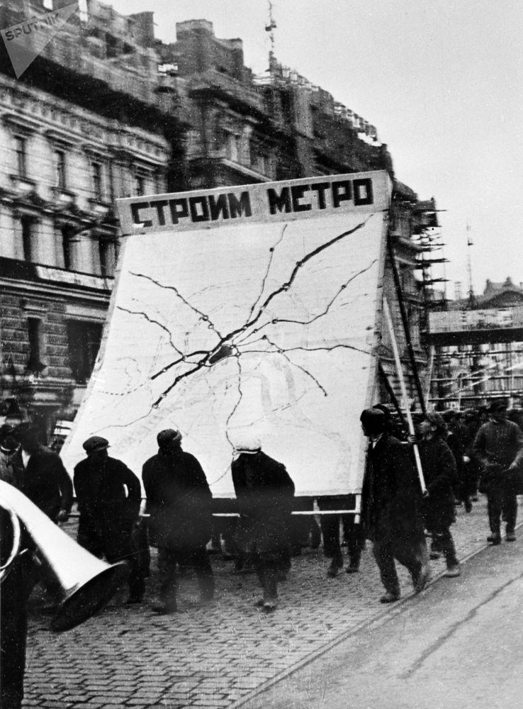 مترو مسکو 86 سالگی را جشن می گیرد/متروی مسکو سال 1939