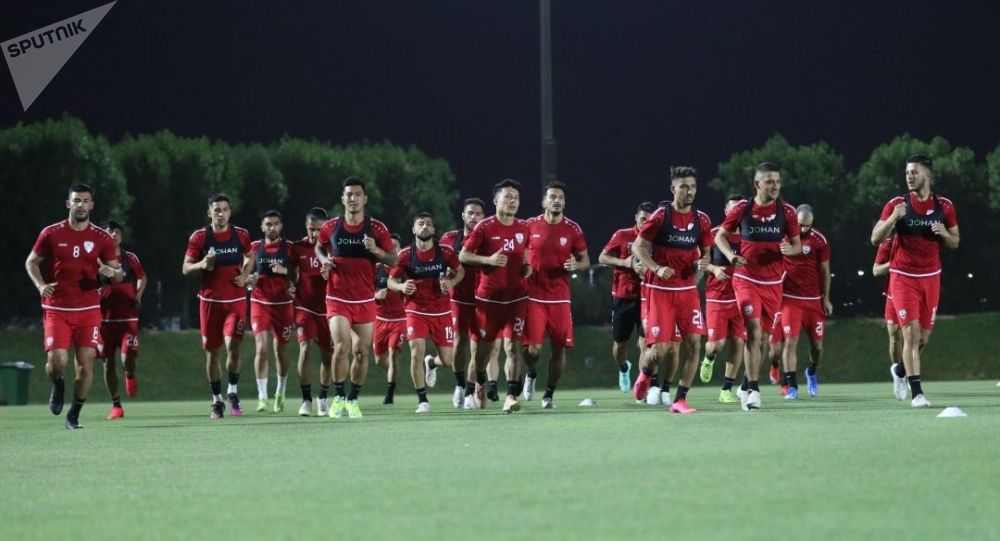 تمرینات تیم ملی فوتبال افغانستان در قطر