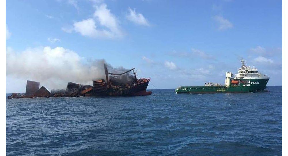 عواقب فاجعه بار ناشی از غرق شدن یک کشتی در اوقیانوس هند