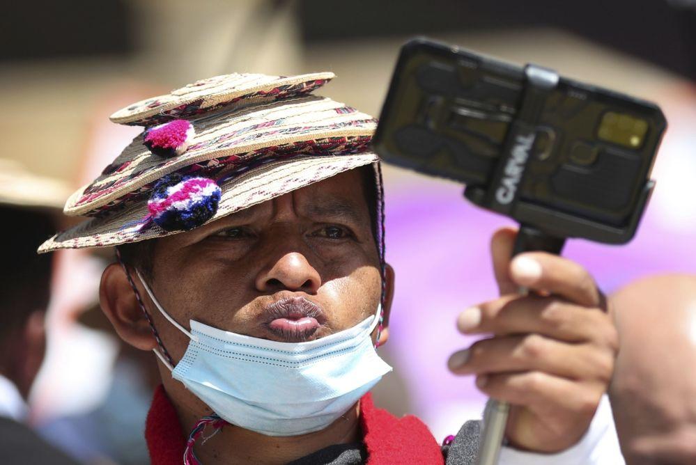 سلفی در تظاهرات در کلمبیا