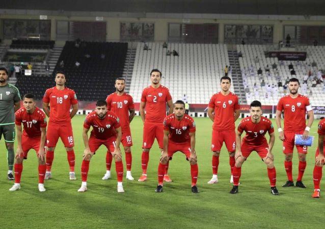 تیم ملی فوتبال افغانستان در بازی با عمان