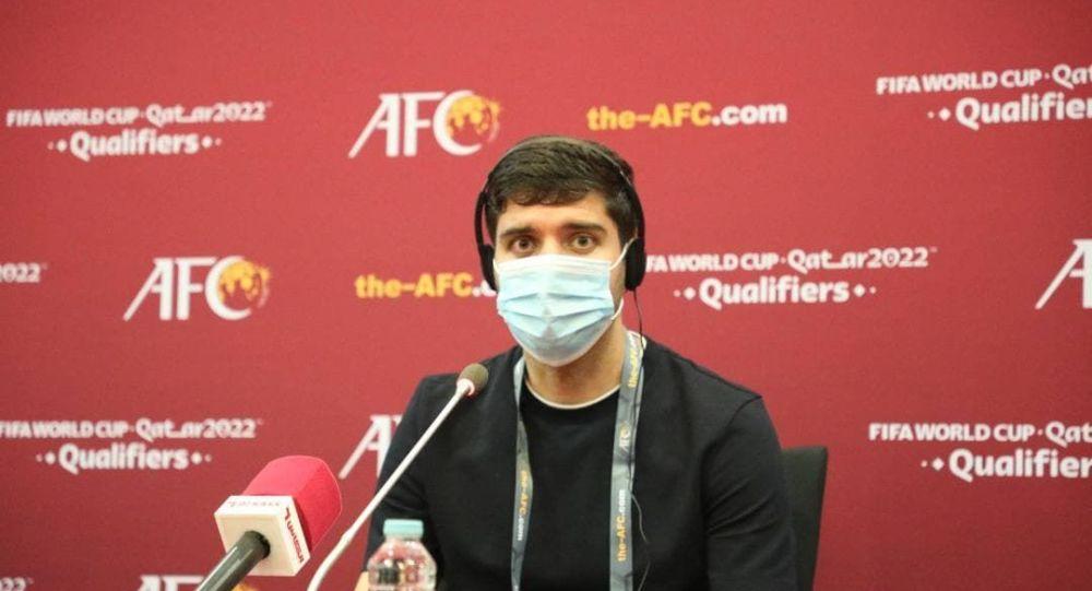 نشست خبری انوش دستگیر بعد از بازی مقابل عمان