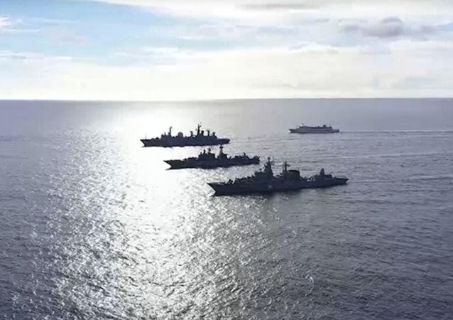 انتشار اولین ویدیو از تمرین ناوگان روسیه در اقیانوس آرام