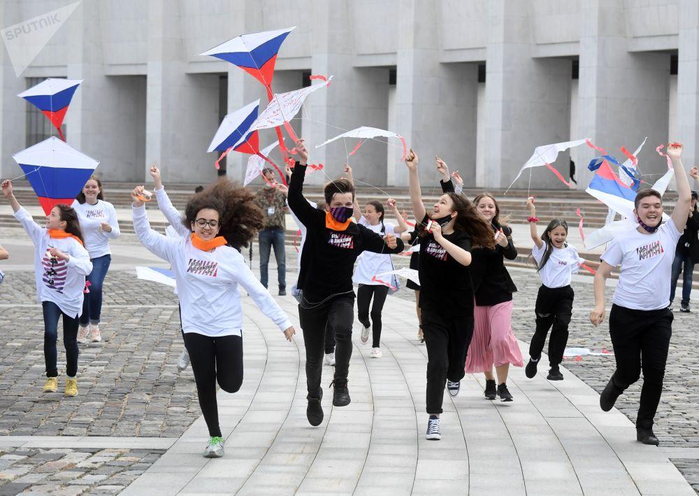 تجلیل از روز روسیه در مسکو.