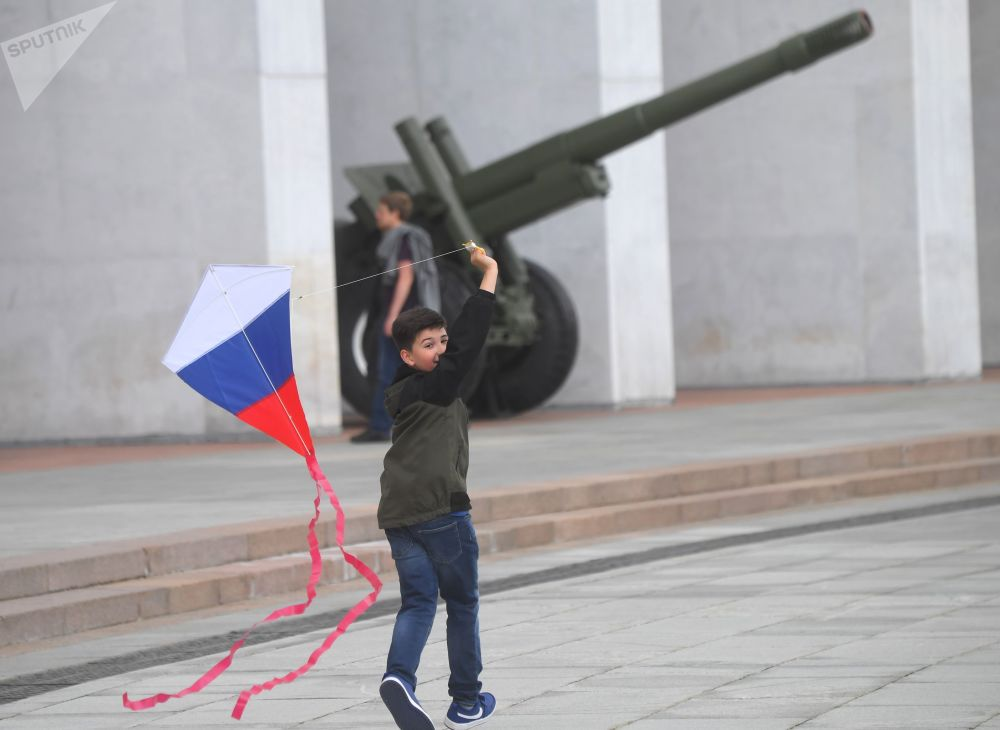 تجلیل از روز روسیه در مسکو