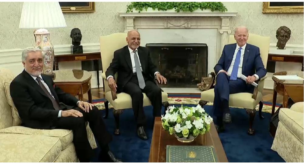 غنی از بایدن نخواست که روند خروج نظامیان امریکایی از افغانستان به تعویق انداخته شود