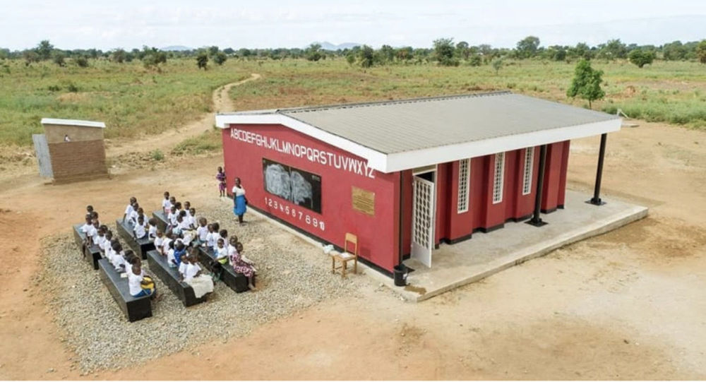 اولین مکتب با چاپ سه بعدی جهان در جمهوری مالاوی افریقا ساخته شد + عکس