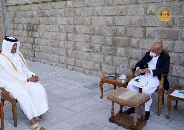 دیدار رئیسجمهور غنی با نمایندۀ ویژه وزارت خارجه قطر