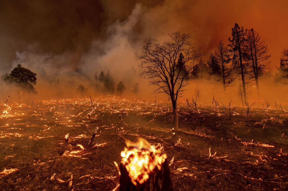 مبارزه با آتشسوزی گسترده در کالیفرنیای امریکا