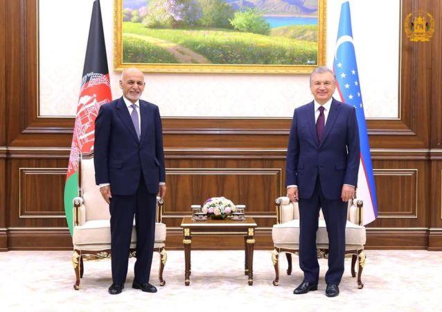 دیدار غنی و میرضیایف؛ اوزبیکستان وعدۀ همکاری دوامدار داد