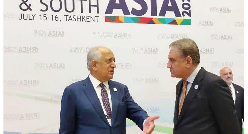 دیدار و گفت و گوی وزیر خارجه پاکستان با زلمی خلیلزاد درباره افغانستان