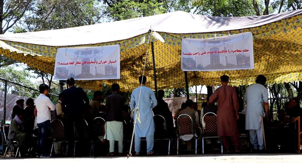 صالح به اعتراض مردم تخار در کابل: خیمه اعتراضتان بی ربط است