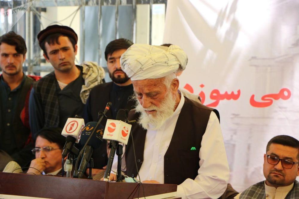 اعتراض مردم تخار در کابل بخاطر افزایش ناامنیها در این ولایت.
