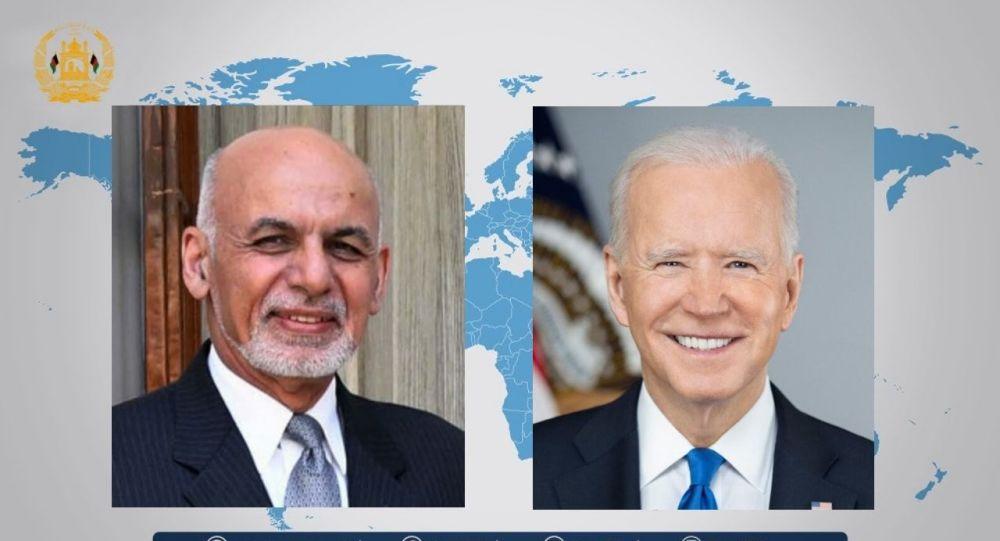 گفتگوی تلفونی غنی و بایدن درباره اوضاع افغانستان