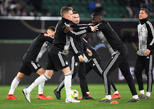 Training deutscher Fußballer vor dem Freundschaftsspiel gegen Serbien