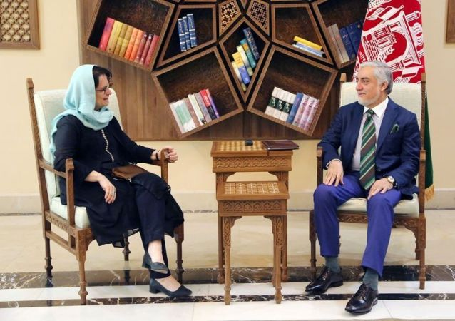 دیدار عبدالله عبدالله با نماینده ای ویژه ای سازمان ملل متحد