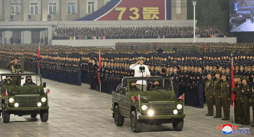 حضور رهبر کوریای شمالی در رژه نظامی