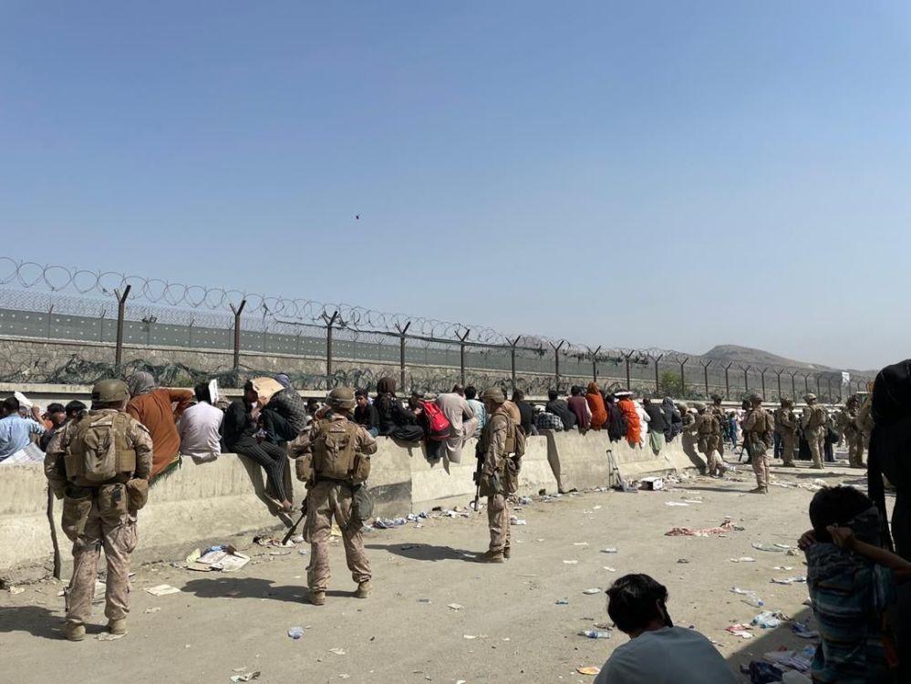 کمپ تخلیه شدگان افغان در آمریکا