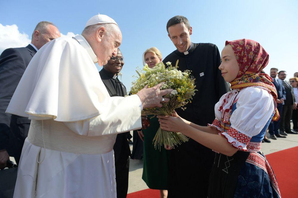 پاپ رم فرانسیس در اسلواکی