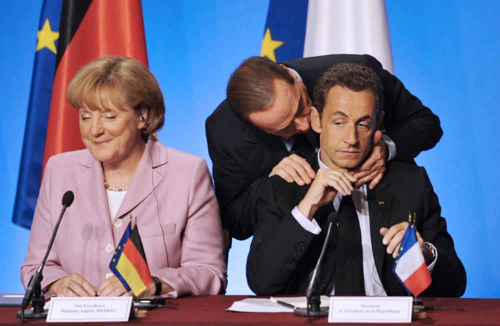 انگلا مرکل با نخست وزیر ایتالیا.