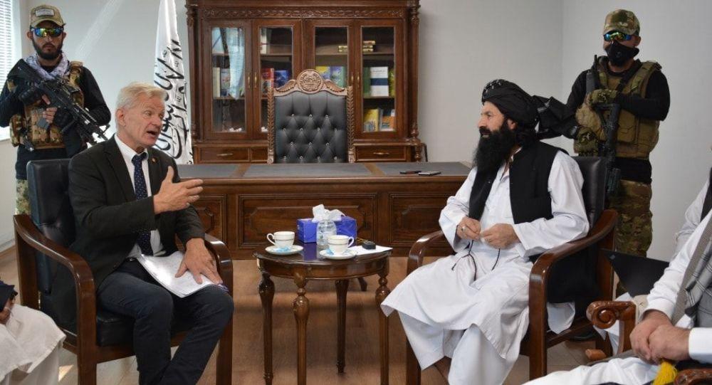 سرپرست وزارت مهاجرت طالبان با مسوول کمیتهی امور مهاجرین ناروی دیدار کرد