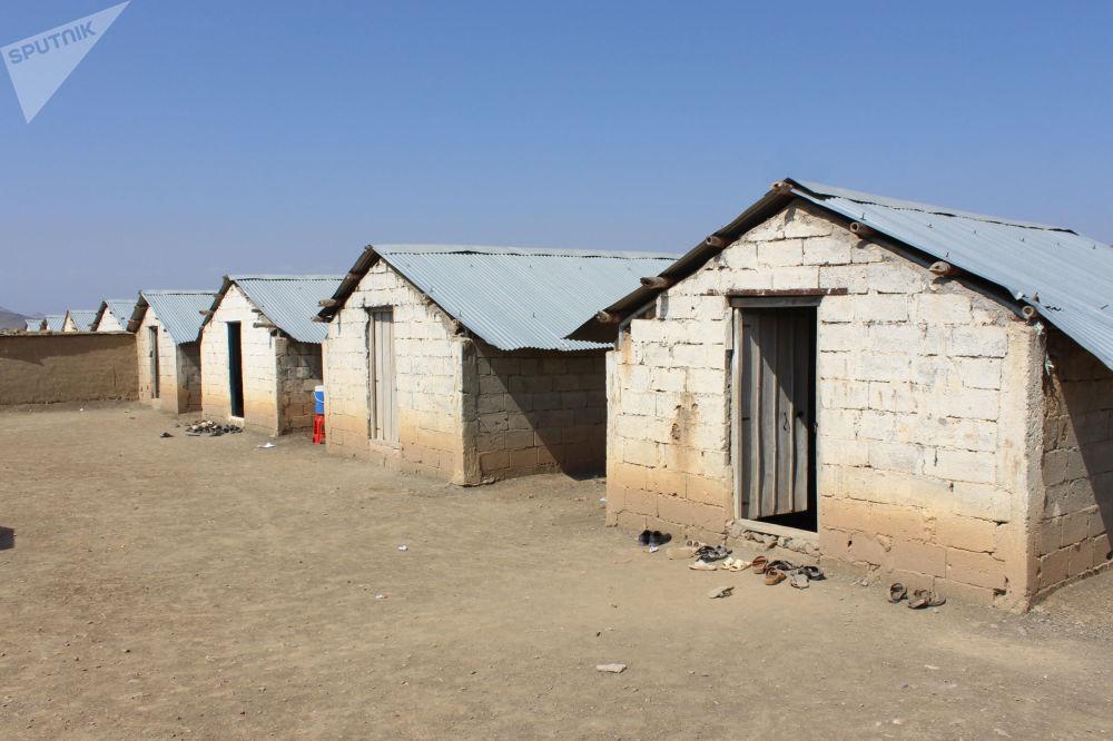 خانههای ساخته شده برای مهاجرین در ولایت خوست.