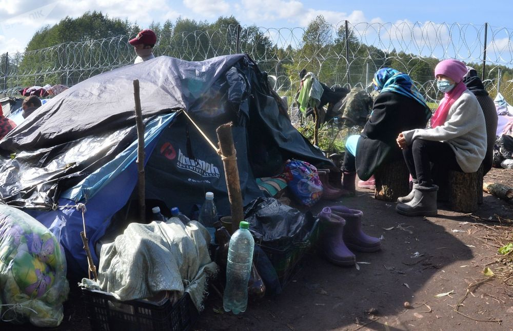 پناهجویان افغان گرفتار در مرز بلاروس و لهستان