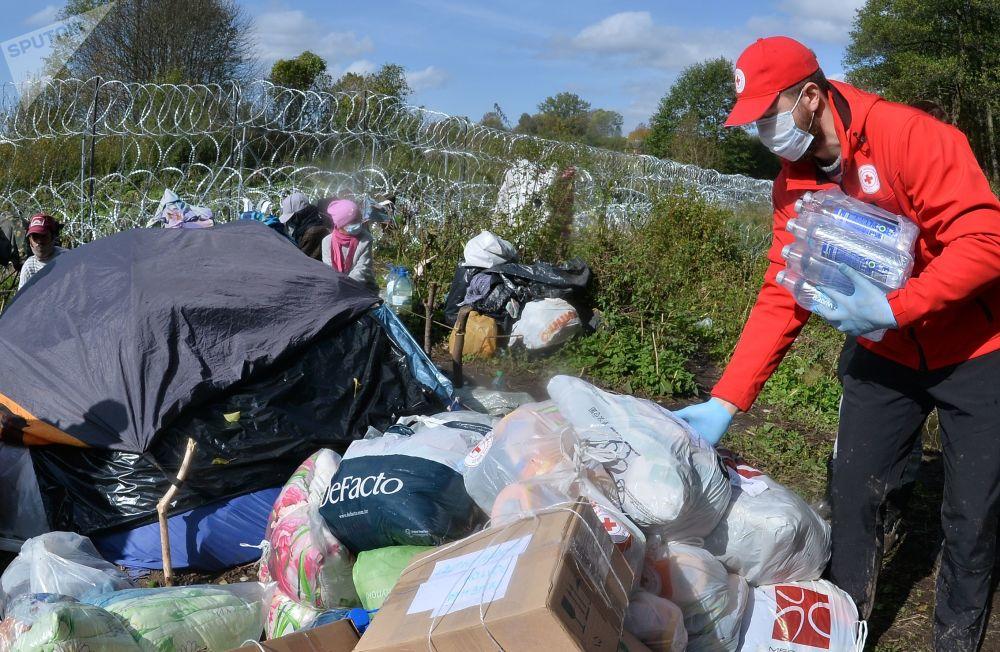 پناهجویان افغان در مرز بلاروس و لهستان