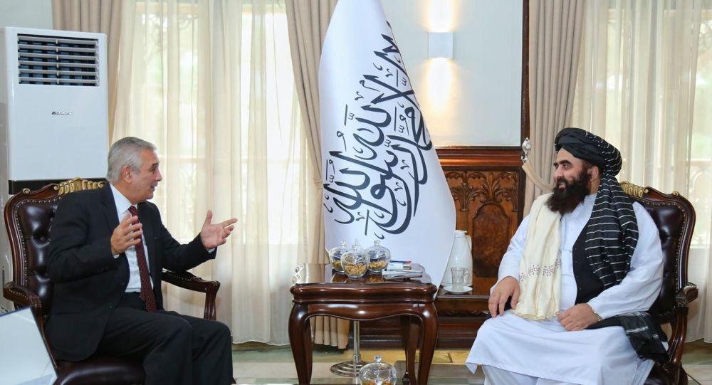 دیدار امیرخان متقی با سفیر ازبیکستان
