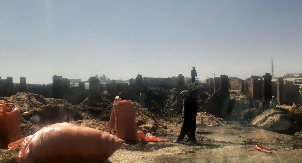 آتش سوزی مخرب در کاه فروشی در شهر مزارشریف